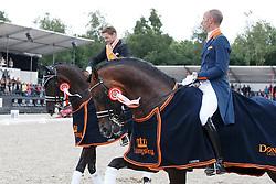 Gal Edward, Minderhoud Hans Peter, (NED)<br /> Kingsley Donadeo Prijs grand Prix Kur<br /> Dutch Championship Dressage - Ermelo 2015<br /> © Hippo Foto - Dirk Caremans<br /> 19/07/15