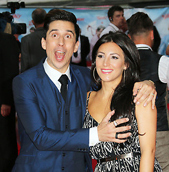 © Licensed to London News Pictures. 09/06/2014. London, UK Russell Kane; Lindsey Kane, The Hooligan Factory - World Film Premiere, Odeon West End Leicester Square, London UK, 09 June 2014. Photo credit : Richard Goldschmidt/LNP