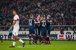 December 16, 2017 - Stuttgart, Germany - Bayerns Joshua Kimmich, Javi Martinez, Arturo Vidal and Robert Lewandowski celebrate the 1:0 during the German first division Bundesliga football match between VfB Stuttgart and Bayern Munich on December 16, 2017 in Stuttgart, Germany. (Credit Image: © Bartek Langer/NurPhoto via ZUMA Press)