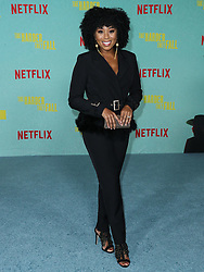 Actress Zee James arrives at the Los Angeles Premiere Of Netflix's 'The Harder They Fall' held at the Shrine Auditorium and Expo Hall on October 13, 2021 in Los Angeles, California, United States. Photo by Xavier Collin/Image Press Agency/ABACAPRESS.COM