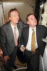 Left to right, the HON.JAMES STOURTON and LORD DALMENY at the Apollo Magazine Summer Party held at 22 Old Queen Street, London, SW1 on 29th June 2010.