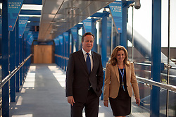© Licensed to London News Pictures. 30/09/2014. Birmingham, UK. British Prime Minister David Cameron with Hannah David PCC Harrow West.  The Conservative Party Conference in Birmingham 30th September 2014. Photo credit : Stephen Simpson/LNP