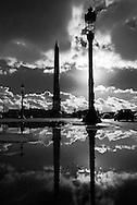 France. Paris. 8th district . place de la concorde obelisk