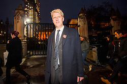 """© Licensed to London News Pictures. 09/11/2018. London, UK. JO JOHNSON MP is seen leaving Parliament after resigning as transport minister. Mr Johnson, brother of former foreign secretary Boris Johnson, has resigned his ministerial post today saying it's """"imperative we go back to the people and check"""" they still want to leave. Photo credit: Ben Cawthra/LNP"""