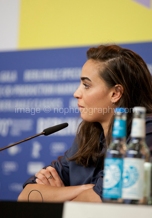 Souheila Yacoub at the press conference for the film The Salt of Tears (Le Sel des Larmes) at the 70th Berlinale International Film Festival, on Saturday 22nd February 2020, Hotel Grand Hyatt, Berlin, Germany. Photo credit: Doreen Kennedy