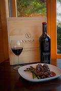 Filet Mignon, Venge wine, Talon Lodge, Sitka, Alaska