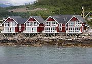 Waterside tourist accommodation Stokmarknes, Hadsel municipality, Hadseloya island, Nordland, Vesteralen region, northern Norway