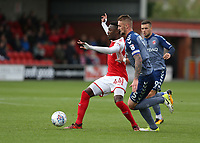 Fleetwood Town's Devante Cole battles with Charlton Athletic's Patrick Bauer<br /> <br /> Photographer Stephen White/CameraSport<br /> <br /> The EFL Sky Bet League One - Fleetwood Town v Charlton Athletic  - Saturday 30th September 2017 - Highbury Stadium - Fleetwood<br /> <br /> World Copyright © 2017 CameraSport. All rights reserved. 43 Linden Ave. Countesthorpe. Leicester. England. LE8 5PG - Tel: +44 (0) 116 277 4147 - admin@camerasport.com - www.camerasport.com
