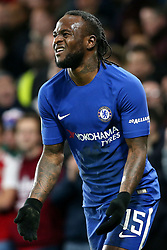 10 January 2018 - Football League Cup - Chelsea v Arsenal - Victor Moses of Chelsea reacts after a missed chance - Photo: Charlotte Wilson / Offside