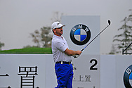Graeme McDowell (NIR) tees off the 2nd tee during Saturay's Round 3 of the 2014 BMW Masters held at Lake Malaren, Shanghai, China. 1st November 2014.<br /> Picture: Eoin Clarke www.golffile.ie