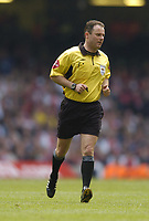 Fotball<br /> England 2004/2005<br /> Foto: SBI/Digitalsport<br /> NORWAY ONLY<br /> <br /> Date: 21/05/2005.<br /> Arsenal v Manchester United FA Cup Final.<br /> <br /> Referee Rob Styles