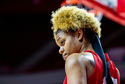 NORMAL, IL - February 07: Nyjah White during a college women's basketball game between the ISU Redbirds and the Braves of Bradley University February 07 2020 at Redbird Arena in Normal, IL. (Photo by Alan Look)