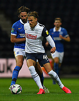Preston North End's Brad Potts battles for the ball<br /> <br /> Photographer Dave Howarth/CameraSport<br /> <br /> The Carabao Cup Third Round - Preston North End v Brighton and Hove Albion - Wednesday 23rd September 2020 - Deepdale - Preston<br />  <br /> World Copyright © 2020 CameraSport. All rights reserved. 43 Linden Ave. Countesthorpe. Leicester. England. LE8 5PG - Tel: +44 (0) 116 277 4147 - admin@camerasport.com - www.camerasport.com