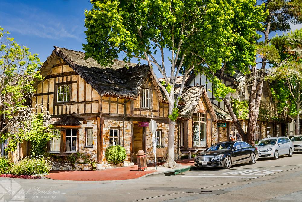 Carmel-by-the-Sea, street scene, California, on the Monterey Peninsula