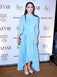 Keira Knightley attending the Harper's Bazaar Women of the Year Awards 2018 held at Claridges, London.