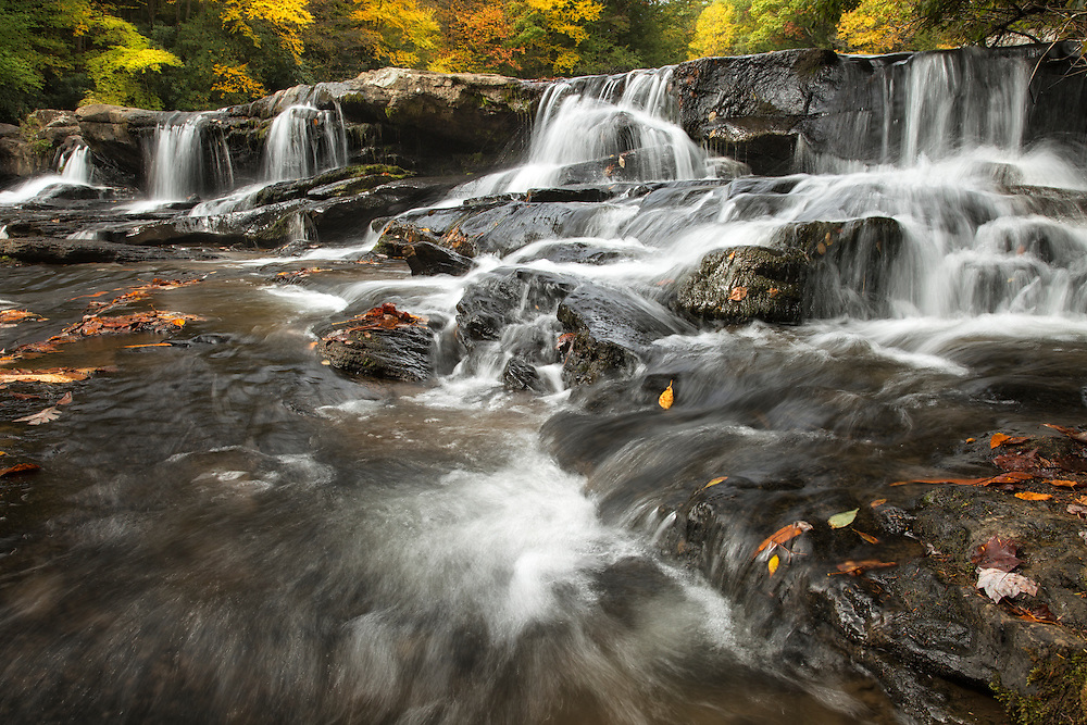 """Cascade Falls in the Fall<br /> <br /> Available sizes:<br /> 18"""" x 12"""" print or canvas print<br /> <br /> See Pricing page for more information. <br /> <br /> Please contact me for custom sizes and print options including canvas wraps, metal prints, assorted paper options, etc. <br /> <br /> I enjoy working with buyers to help them with all their home and commercial wall art needs."""