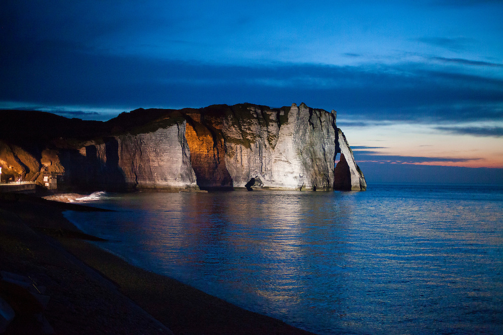 Sunset on Etratat, Normandy. April 2016.