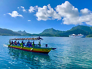 Maroe Bay, Huahine, Society Islands, French Polynesia; South Pacific