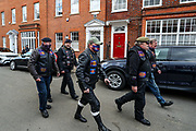 Members of the household division riders club arrived at Windsor Castle after the death of Britain's Prince Philip in Windsor on Sunday, April 11, 2021. The Queen announced the death of her beloved husband, His Royal Highness Prince Philip, Duke of Edinburgh who died at age 99. HRH passed away peacefully on April 9th at Windsor Castle. (Photo/ Vudi Xhymshiti)