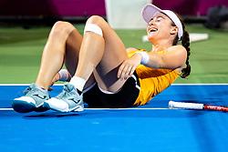 PORTOROZ, SLOVENIA - SEPTEMBER 18: Tamara Zidansek of Slovenia during the Semifinals of WTA 250 Zavarovalnica Sava Portoroz at SRC Marina, on September 18, 2021 in Portoroz / Portorose, Slovenia. Photo by Matic Klansek Velej / Sportida