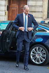 © Licensed to London News Pictures. 07/11/2019. London, UK. The Duke of Cambridge arrives at the launch of the National Emergencies Trust at St Martin-in-the-Field, London. The National Emergencies Trust is an independent charity which will provide an emergency response to disasters in the UK. Photo credit: Alex Lentati/LNP