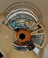 Little Planet view of my third bedroom after renovation. Prior to this the room was only used for storage. The Little Planet view was created using 70 images taken in 5 degree intervals using a Fuji X-T1 camera and 16 mm f/1.4 lens (ISO 800, 16 mm, f/11, 1/15 sec). The raw images were processed with Capture One Pro, and AutoPano Giga Pro.