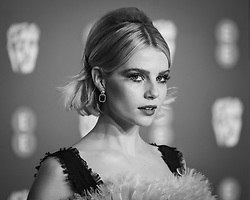 Lucy Boynton attending 72nd British Academy Film Awards, Arrivals, Royal Albert Hall, London. 10th February 2019