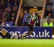 Twickenham, England.  Ugo MONYE, Zurich Premiership. Harlequins vs Rotherham Titans The Stoop Surrey. 16.04.2004. [Mandatory Credit: Peter Spurrier/Intersport-images].