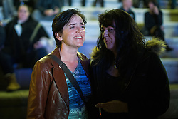 """© Licensed to London News Pictures . 03/11/2017 . Manchester , UK . Former UKIP leadership candidate ANNE MARIE WATERS (l) amongst hundreds of fans of Tommy Robinson (real name Stephen Yaxley-Lennon ) . People queue up for books at the launch of the former EDL leader's book """" Mohammed's Koran """" at Castlefield Bowl . Originally planned as a ticket-only event at Bowlers Exhibition Centre , the launch was moved at short notice to a public location in the city . Photo credit : Joel Goodman/LNP"""