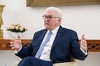 02 FEB 2021, BERLIN/GERMANY:<br /> Frank-Walter Steinmeier, Bundespraesident, waehrend einem Interview, Robert-Blum-Saal, Schloss Bellevue<br /> IMAGE: 20210202-01-026<br /> KEYWORDS: BUndespräsident