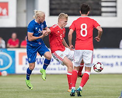 RHYL, WALES - Saturday, September 2, 2017: Wales' Billy Sass Davies during an Under-19 international friendly match between Wales and Iceland at Belle Vue. (Pic by Gavin Trafford/Propaganda)
