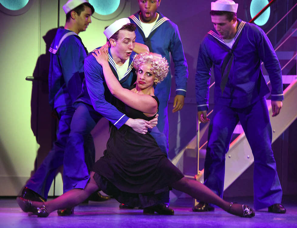 """April 7, 2016, East Haddam, CT<br /> Mara Lavitt -- Special to the Hartford Courant<br /> The run-through of  the classic Cole Porter musical """"Anything Goes"""" being performed at Goodspeed Musicals in East Haddam. Desiree Davar as Erma."""