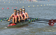 Plovdiv BULGARIA. 2017 FISA. Rowing World U23 Championships. <br /> SUI BLM4X. Bow. RYSER, Pascal, MUELLER, Julian, FERNANDEZ, Matthias and STRUZINA, Andri.<br /> <br /> <br /> Wednesday. PM,  Heats 17:05:11  Wednesday  19.07.17   <br /> <br /> [Mandatory Credit. Peter SPURRIER/Intersport Images].