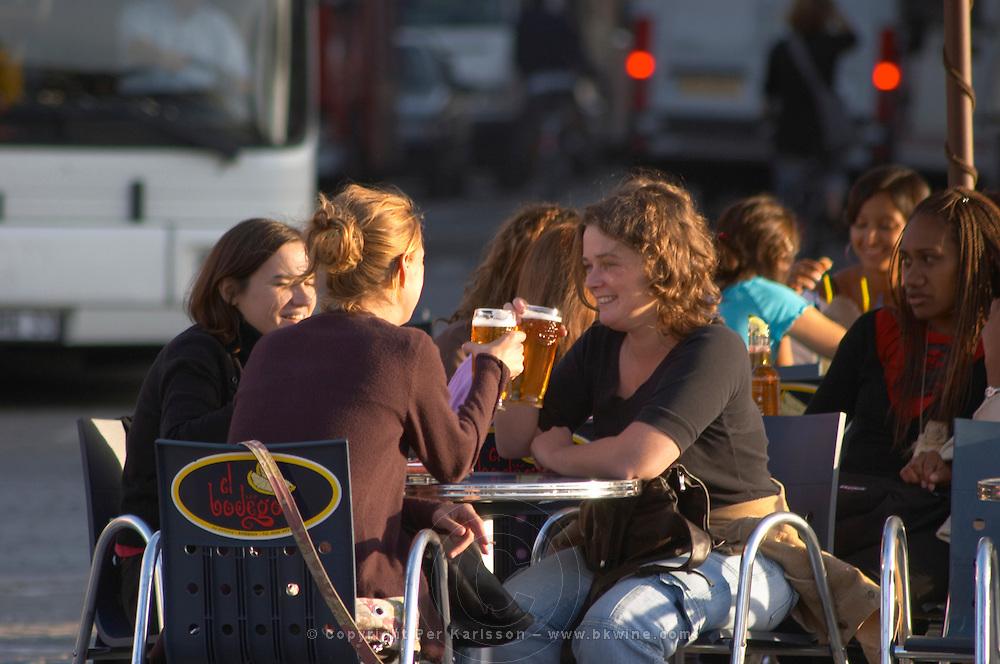 A cafe. Place de la Victoire. Bordeaux city, Aquitaine, Gironde, France