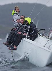 Clyde Cruising Club's Scottish Series 2019<br /> 24th-27th May, Tarbert, Loch Fyne, Scotland<br /> <br /> Day 2 Wet & Wild on Loch Fyne.<br /> <br /> GBR7031N, Crhu, Helensburgh SC, Hunter 707<br /> <br /> <br /> Credit: Marc Turner / CCC