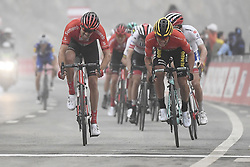 March 1, 2019 - Dubai, Emirati Arabi Uniti - Foto LaPresse - Fabio Ferrari.01 Marzo 2019 Dubai (Emirati Arabi Uniti).Sport Ciclismo.UAE Tour 2019 - Tappa 6 - da Ajman a Jebel Jais - 180 km.Nella foto: ROGLIC Primoz(SLO)TEAM JUMBO - VISMA. Vincitore di tappa, DUMOULIN Tom(NED)TEAM SUNWEB..Photo LaPresse - Fabio Ferrari.March 01, 2019 Dubai (United Arab Emirates) .Sport Cycling.UAE Tour 2019 - Stage 6 - From Ajman To Jebel Jais  - 112 miles..In the pic: during the race.ROGLIC Primoz(SLO)TEAM JUMBO - VISMA winner the race, DUMOULIN Tom(NED)TEAM SUNWEB (Credit Image: © Fabio Ferrari/Lapresse via ZUMA Press)