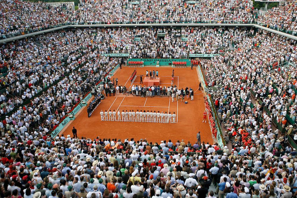 Roland Garros. Paris, France. June 10th 2007..Men's Final..Rafael NADAL won against Roger FEDERER.