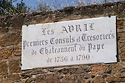 les avril fist consuls chateauneuf du pape rhone france