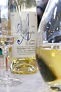 decanter and wine bottle domaine de la courtade porquerolles provence france