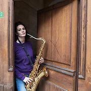 Piccolo Teatro Grassi, Milano, Italia, 3 Aprile 2021. Lara Paracchini, 37 anni, ricercatrice biomedica.
