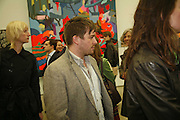 STUART SHAVE, Franz Ackermann , Home, home again private view. White Cube, Hoxton sq. London. 20 April 2006. ONE TIME USE ONLY - DO NOT ARCHIVE  © Copyright Photograph by Dafydd Jones 66 Stockwell Park Rd. London SW9 0DA Tel 020 7733 0108 www.dafjones.com