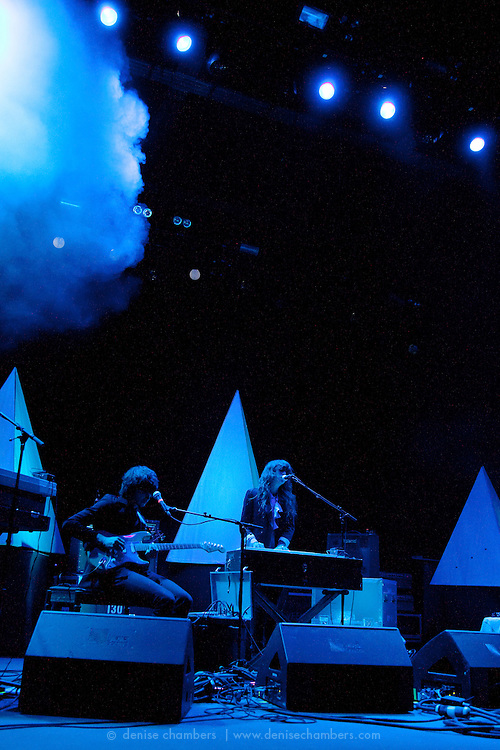 """Beach House perform on September 3, 2010 in support of """"Teen Dream"""" at Red Rocks Amphitheater in Morrison, Colorado."""