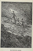 The Torch Light Passage from the book ' A journey to the centre of the earth ' by Jules Verne (1828-1905) Published in New York by Scribner, Armstrong & co 1874