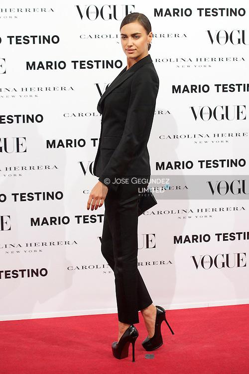Irina Shayk attends Vogue December Issue Launch Party at Palacio Fernan Nunez on 27 November, 2012 in Madrid