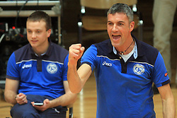 Coach of Salonit Emanuele Francascia at finals of Slovenian volleyball cup between OK ACH Volley and OK Salonit Anhovo Kanal, on December 27, 2008, in Nova Gorica, Slovenia. ACH Volley won 3:2.(Photo by Vid Ponikvar / SportIda).