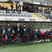 Trabzonspor's coach Senol Gunes (L) during their Tuttur.com Cup matchday 2 soccer match Trabzonspor between  Werder Bremen at Mardan stadium in AntalyaTurkey on 07 Monday January, 2013. Photo by Aykut AKICI/TURKPIX