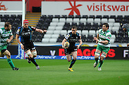 Shane Williams  © makes a break for the Ospreys. RaboDirect Pro 12 match, Ospreys v Benetton Treviso at the Liberty Stadium  in Swansea  on Saturday 31st March 2012.  pic by Andrew Orchard, Andrew Orchard sports photography,
