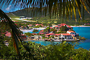 St. Jean Bay with the Eden Rock hotel peninsula, St. Barthelemy, FWI