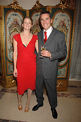ROWAN SOMERVILLE and LAUREN SWINEY at a party to celebrate the publication of The End of Sleep by Rowan Somerville held at the Egyptian Embassy, London on 27th March 2008.<br /><br />NON EXCLUSIVE - WORLD RIGHTS
