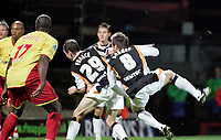 Photo: Marc Atkins.<br /> Watford v Hull City. Carling Cup. 24/10/2006.<br /> Nicky Barmby scores for Hull City.